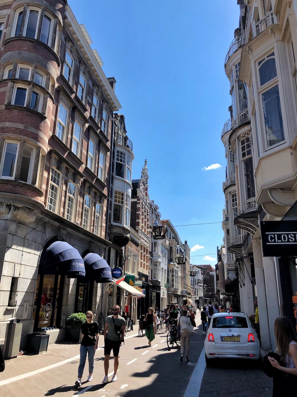 De leukste winkelstraat Noordeinde in Den Haag, is niet alleen vol met winkels en cafés, het is ook de plek waar het werkpaleis van onze koning is gevestigd.