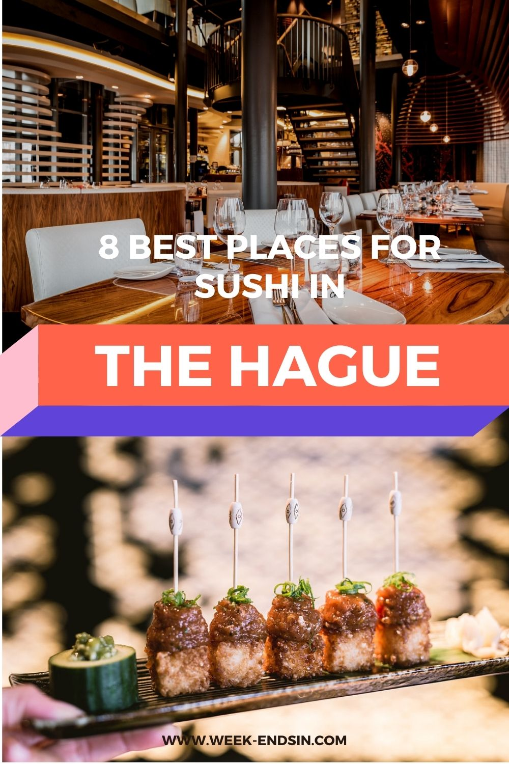 The best and most delicious places to eat sushi in The Hague? We've listed our favourites in this article!